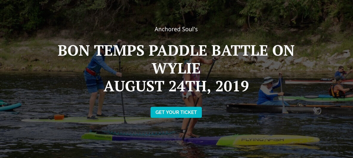 Bon Temp Paddle Battle on Lake Wylie August 24 2019 .